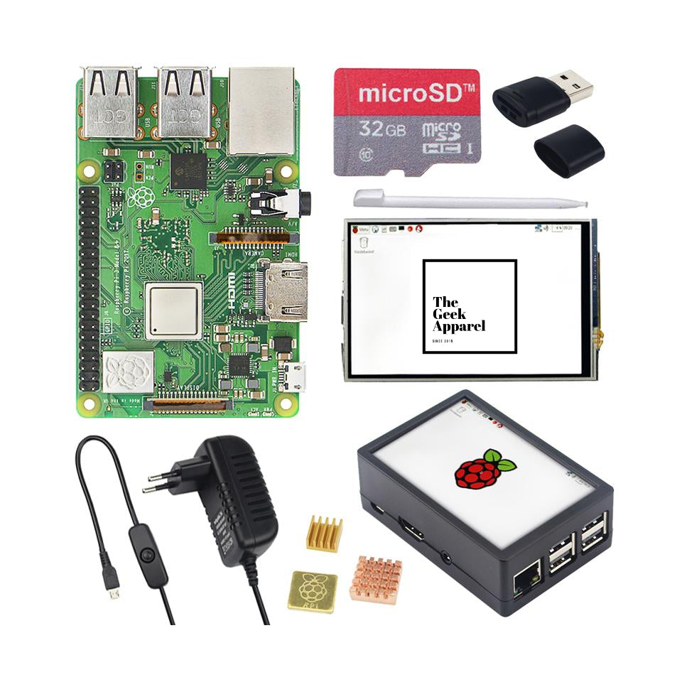 Ultimate Raspberry Pi.3 Bundle w/ 3.5 inch Touchscreen LCD + 32GB SD Card + HDMI