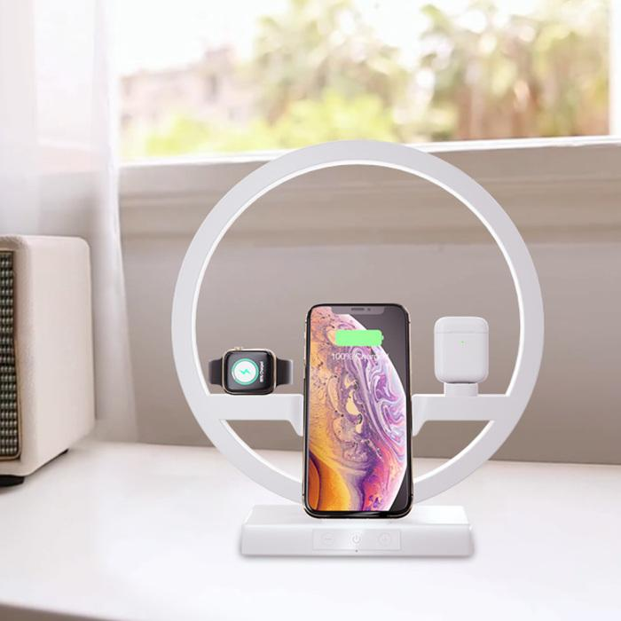 White-led-dock-station-for-apple-watch-iphone