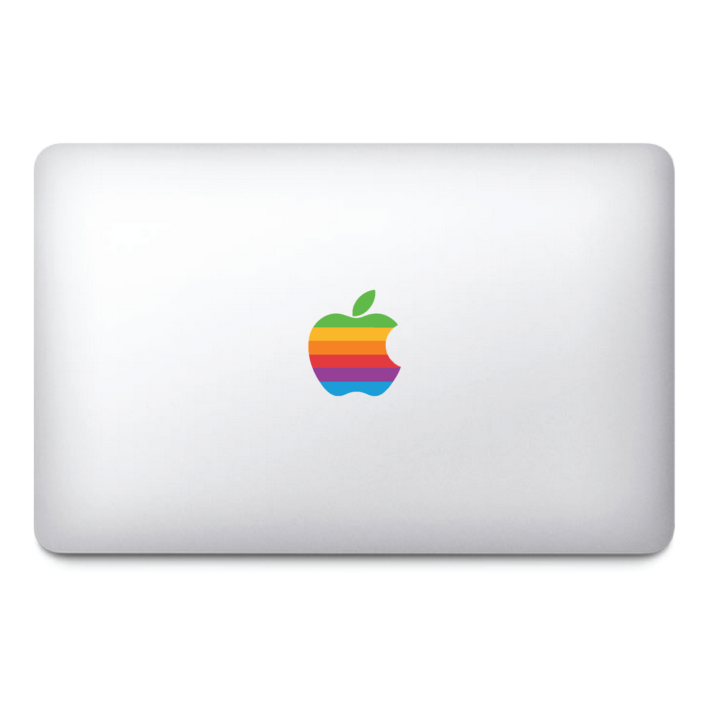 Retro Apple Macbook Rainbow Sticker - The Geek Apparel