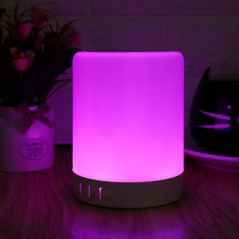 Colorful Mini LED Lamp w/ Sensor Touch & Bluetooth Speaker 💡🔊