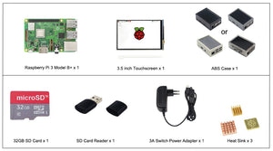 Ultimate Raspberry Pi 3 Bundle w/ 3.5 inch Touchscreen LCD + 32GB SD Card + HDMI - The Geek Apparel