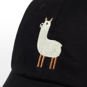 Nerdy Adjustable Lonely Alpaca Baseball Cap - The Geek Apparel