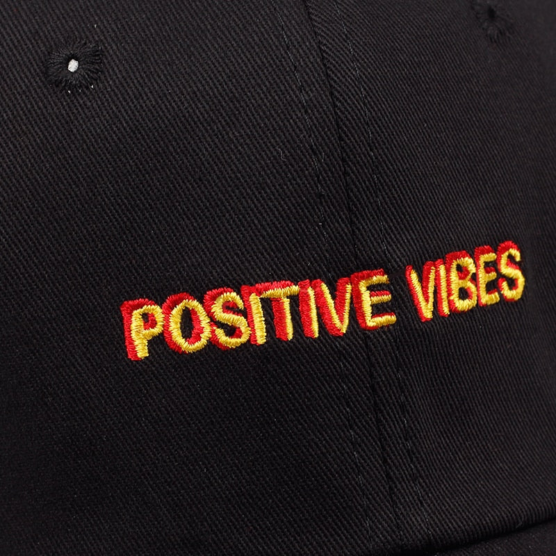 Positive Vibes Baseball Cap - The Geek Apparel