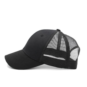 Casual Black Adjustable Baseball Cap - The Geek Apparel