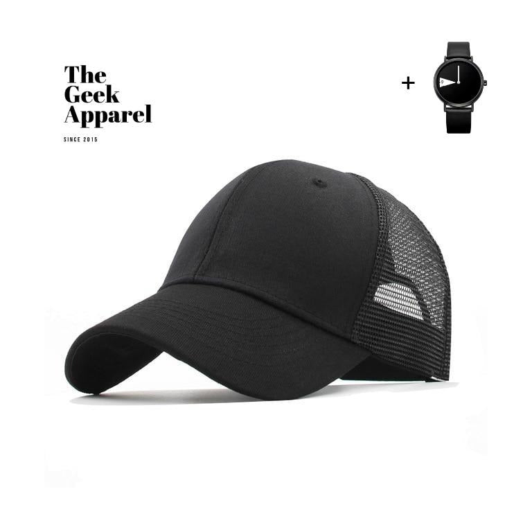 Casual Black Adjustable Baseball Cap 🧢