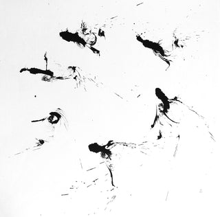 Watery Sumi Ink - Flying by ISHII Houtan-石井抱旦の書「飛」-PURE SHODO