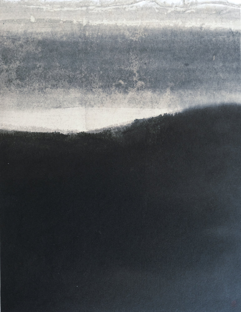 Watery Sumi Ink - Dawn by ISHII Houtan-石井抱旦の書「曙光」-PURE SHODO