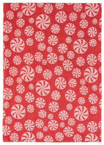 Peppermint Jacquard Dishtowel