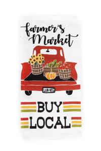 Farm Truck- Farmers Market, Buy Local Dish Towel