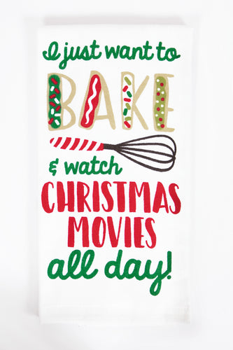 Baking & Christmas Movies Kitchen Towel