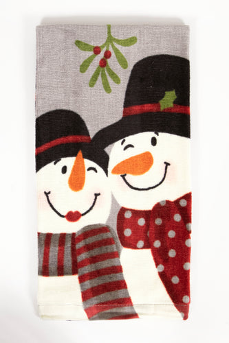 Snowy Sweethearts Kitchen Towel