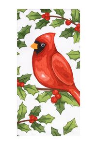 Watercolor Cardinal Kitchen Towel