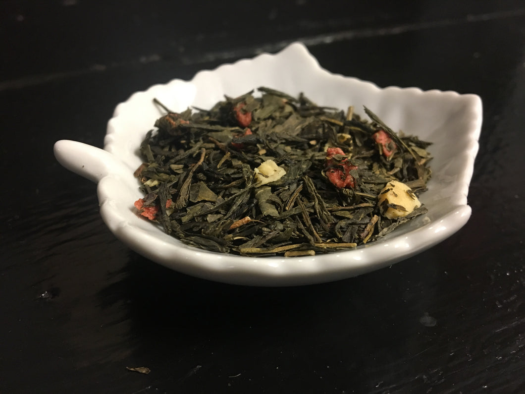 Strawberry Cream - 2 oz Loose Green Tea