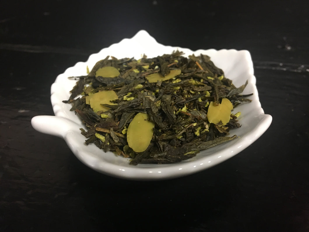 Almond Cookies - 2 oz Loose Green Tea