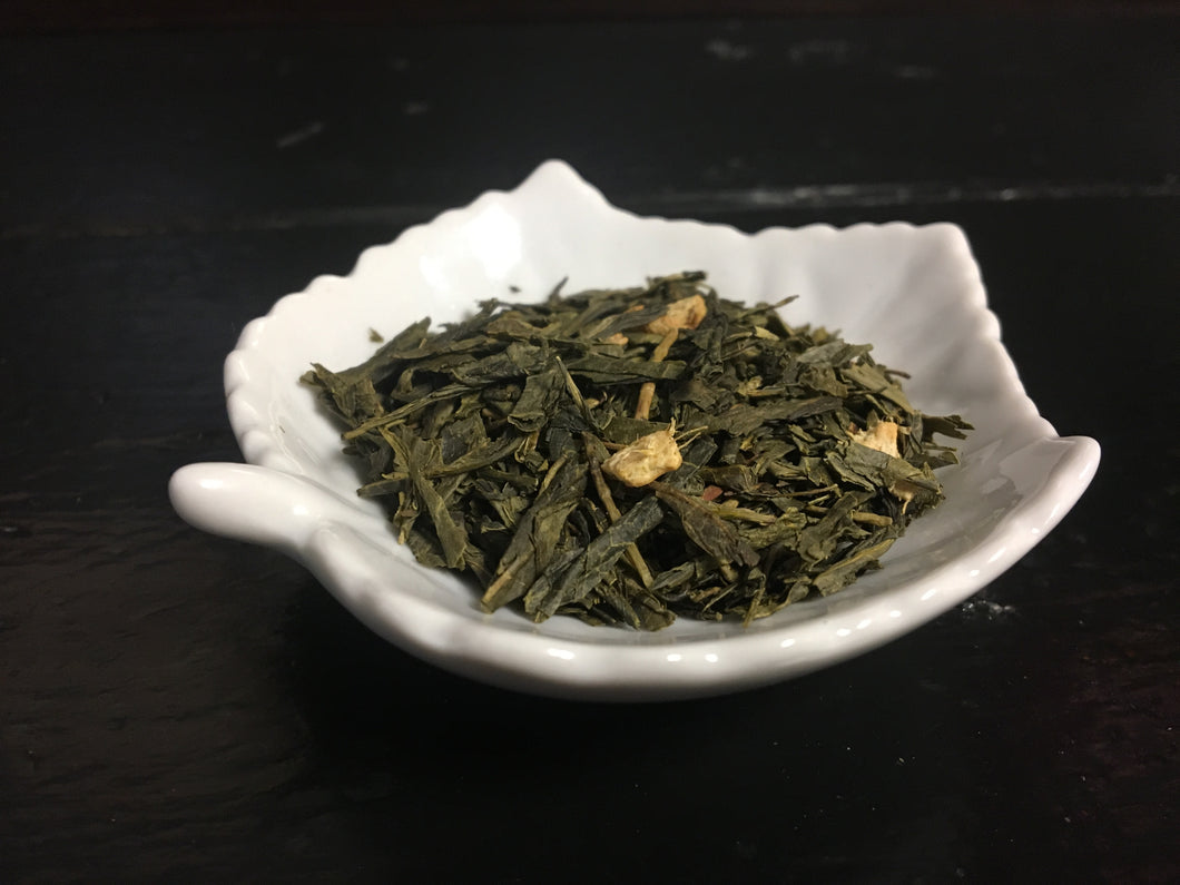 Honey Ginger - 2 oz Loose Green Tea