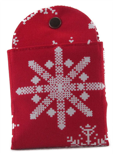 Snowflake Red - Tea Wallet