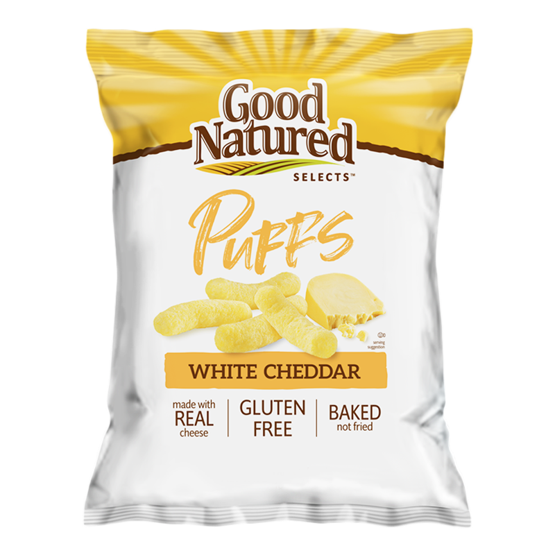 Herr's Good Natured Selects White Cheddar Puffs 6.5oz (184.3g)