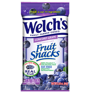 Welch's Fruit Snacks Concord Grape 5oz (142g) - New