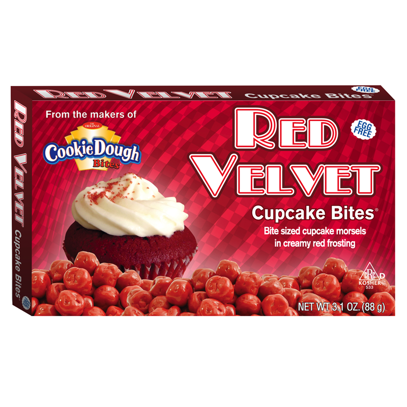 Cookie Dough Red Velvet Cupcake Bites - 3.1oz