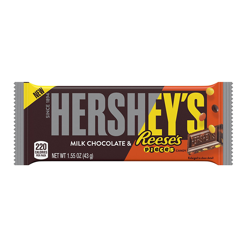 Hershey's Milk Chocolate with Reese's Pieces - 43g