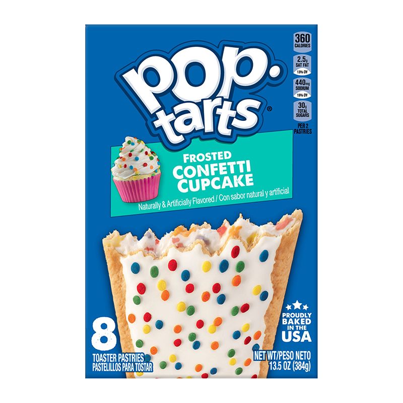 Pop Tarts Frosted Confetti Cupcake 8-Pack 13.5oz (384g) - New
