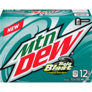 Mountain Dew Baja Blast 12 pack - 355ml cans