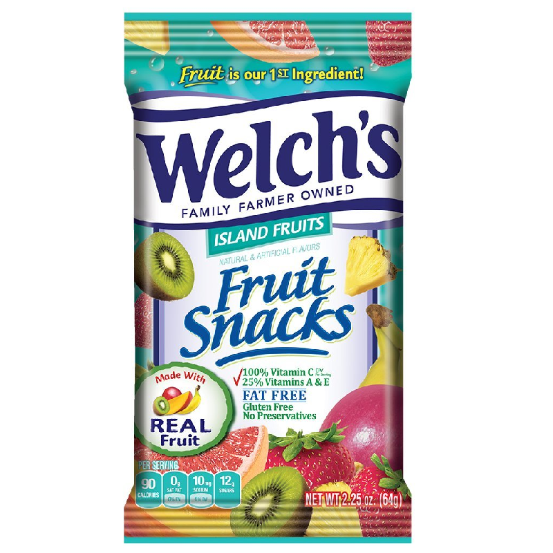 Welch's Fruit Snacks Island Fruits 5oz (14g) - New
