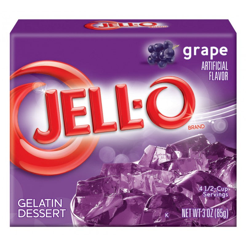 Jell-O - Grape Gelatin Dessert - 3oz (85g)