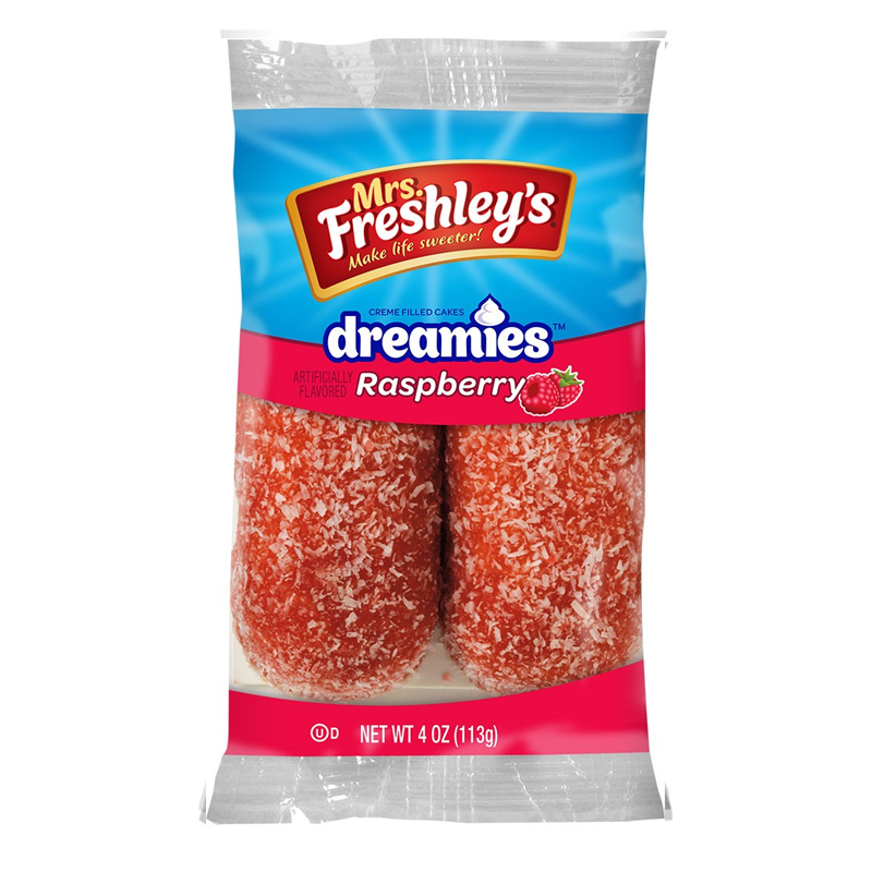 Mrs Freshley's Raspberry Dreamies Twin Pack 4oz (113g)