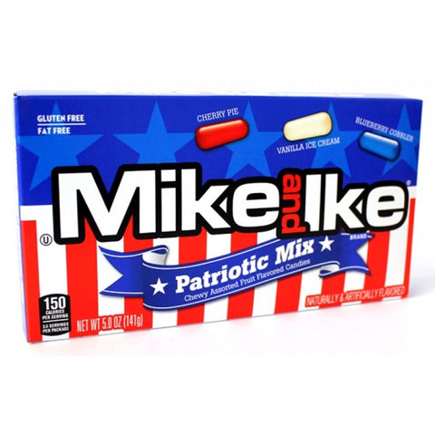 Mike & Ike - Patriotic Mix Theatre Box 5oz (142g) - New