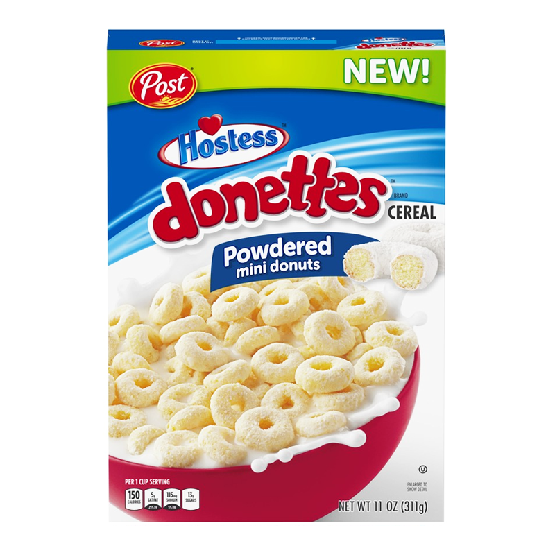 Post Hostess Donettes Powdered Mini Donuts Cereal - 11oz (311g) - Clearance - April Date