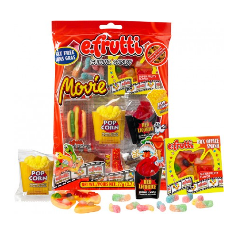 E.Frutti Gummies Movie Bag - 2.7oz (77g)