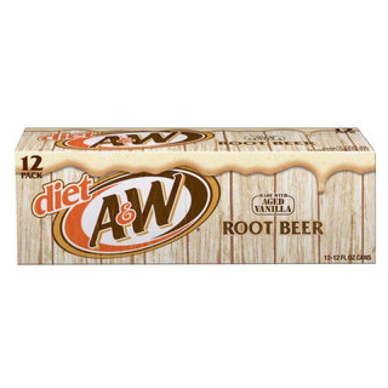 A&W Diet Root Beer 12-Can Fridge Pack