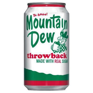 Mountain Dew Throwback - 12fl.oz (355ml) - New - May Date