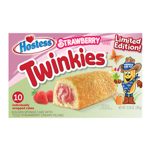 Hostess Limited Edition Strawberry Twinkies 10-Pack - 13.58oz (385g)