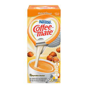Coffee-Mate - Hazelnut - Liquid Creamer Singles - 50-Piece x 3/8fl.oz (11ml) - New