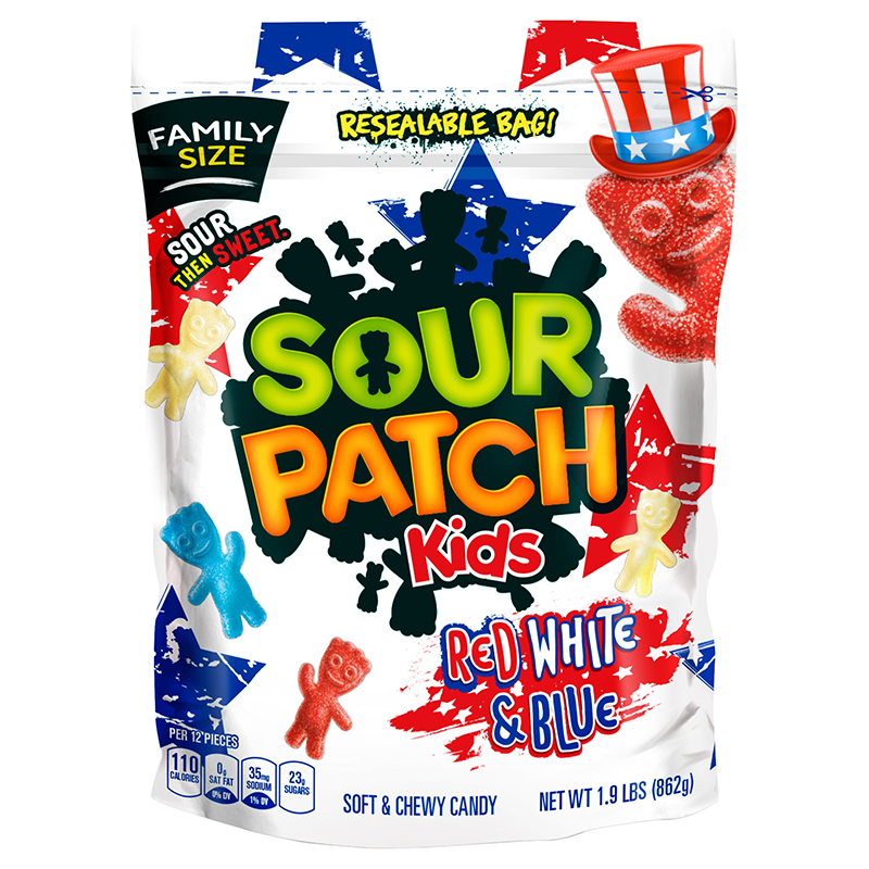 Sour Patch Kids Red White & Blue Family Size - 1.9lbs (862g)
