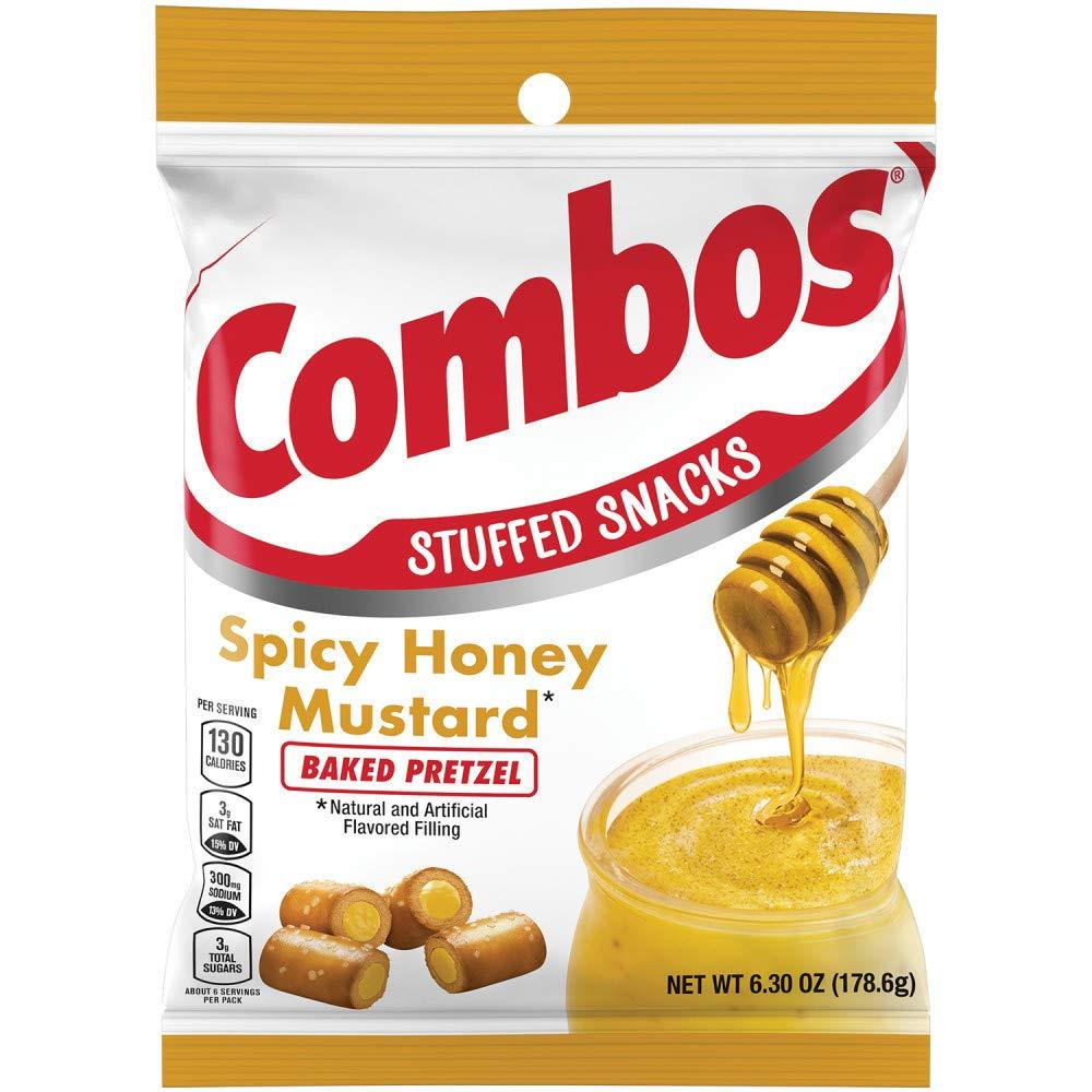 Combos Spicy Honey Mustard Baked Pretzel 6.3oz (178.6g)