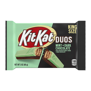 Kit Kat Duos Dark Chocolate Mint King Size - 3oz (85g) - New