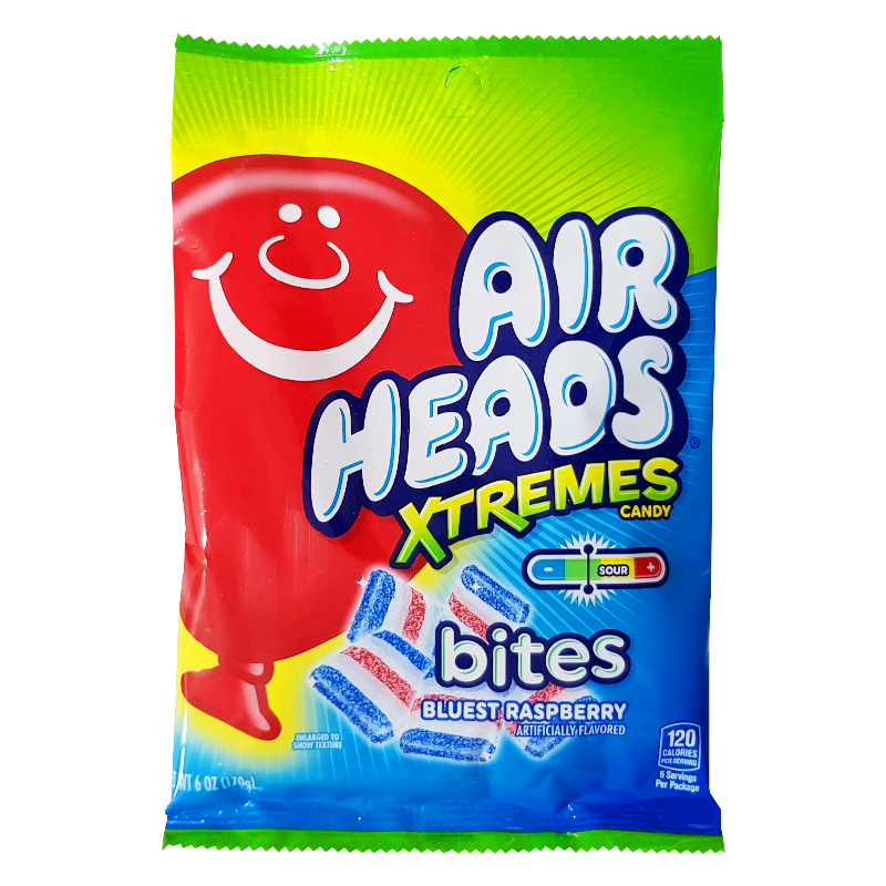 Airheads Xtremes Bluest Raspberry - 6oz (170g)