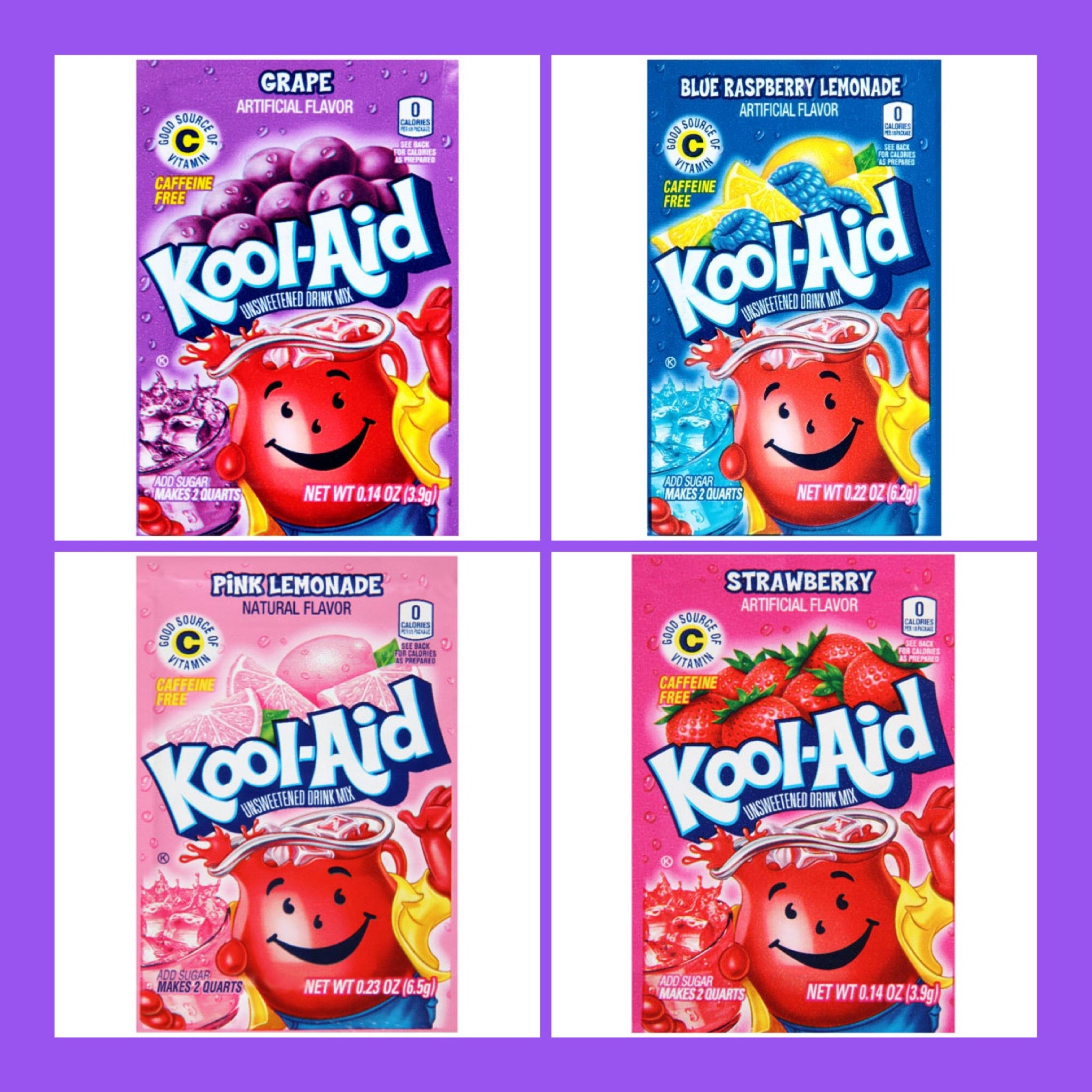 Kool Aid - Random selection of 4 Drink Mix Sachets