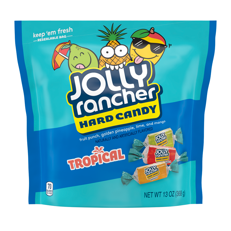 Jolly Rancher Tropical Hard Candy - 13oz (369g) - Extra Large Bags-  New