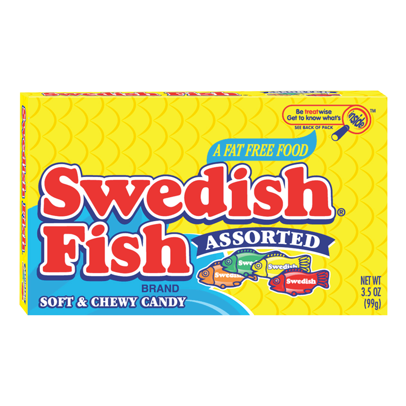 Swedish Fish Red Theatre Box - 3.1oz - Clearance Best before 7th Jan 2021