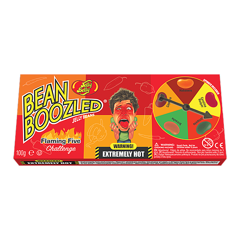 Jelly Belly Beanboozled Flaming Five Spinner Box (100g) - New