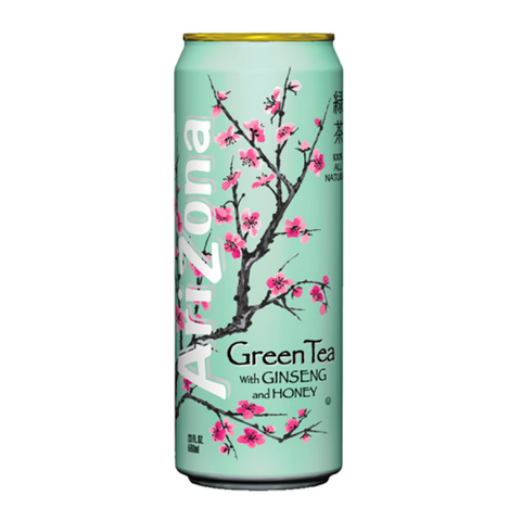 AriZona Green Tea with Ginseng and Honey 23oz (680ml) - New