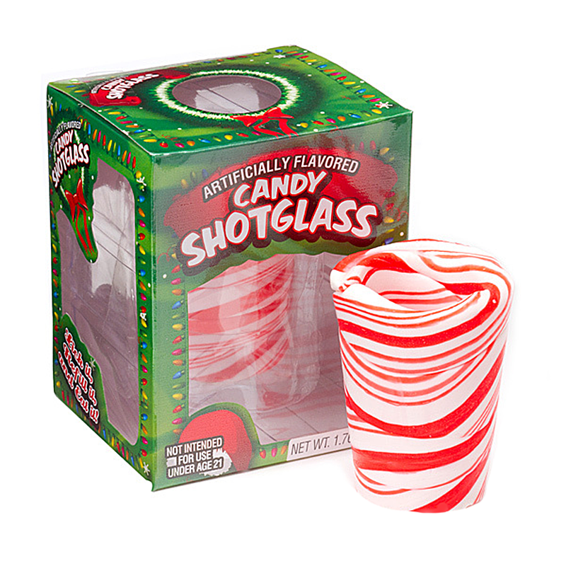 Peppermint Candy Shot Glass 1.76oz (50g) [Christmas] - New