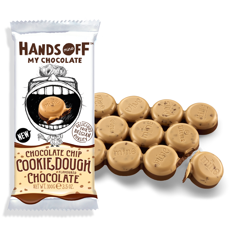 Hands Off My Chocolate - Chocolate Chip Cookie Dough Chocolate - 3.5oz (100g) -  New