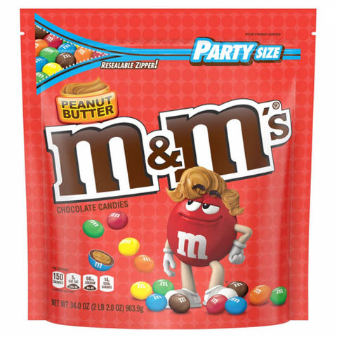 M&M's Peanut Butter HUGE Party Size SUB 34oz (963.9g) - New