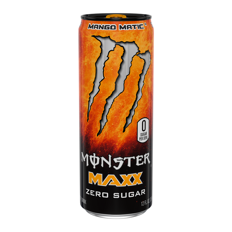 Monster Energy MAXX Mango Matic Zero Sugar - 12fl.oz (355ml) - New