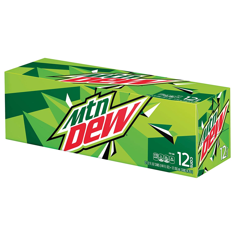 Mountain Dew Original 355ml Cans 12 cans - November Date